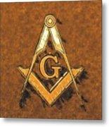 Freemason, Mason, Masonic Symbolism Metal Print