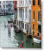 Gondola, Canals Of Venice, Italy Metal Print