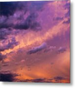 Nebraska Hp Supercell Sunset Metal Print