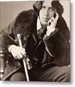 Oscar Wilde (1854-1900) Metal Print by Granger