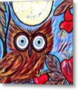 Owl Midnight Metal Print