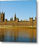 Palace Of Westminster, Houses Of Parliament, And Big Ben Metal Print