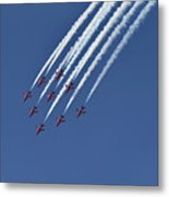 Red Arrows Aerobatic Team Metal Print
