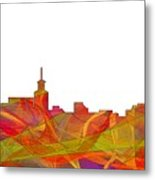 Santa Fe New Mexico Skyline Metal Print