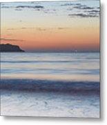 Soft Sunrise Seascape Metal Print