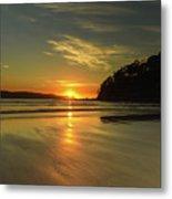 Sunrise Seascape From The Beach Metal Print