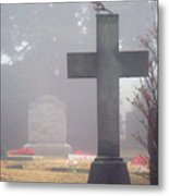 9000-foggy Morning Metal Print
