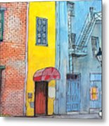 98  French Quarter Back Alley Metal Print