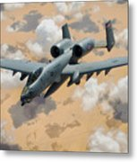A-10 Thunderbolt Warthog Metal Print