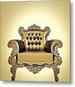 A A G - Antiquearmchairgold Metal Print