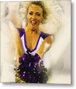 A Baltimore Ravens Cheerleader  Metal Print