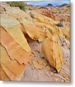 A Band Of Gold In Valley Of Fire Metal Print