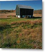 A Barn In Mid Autumn  Metal Print