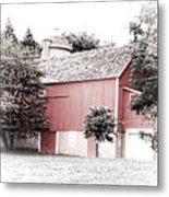 A Barn In The City Metal Print