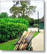 A Barrow Load Of Oars Metal Print