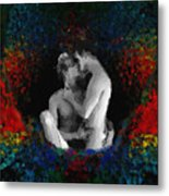 A  Bath Of Colors Metal Print