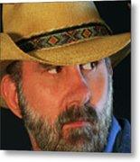 A Bearded Cowboy Metal Print