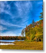 A Beautiful Autumn Day On West Lake Metal Print