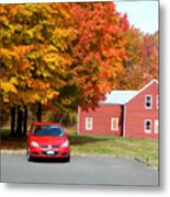 A Beautiful Country Building In The Fall 4 Metal Print