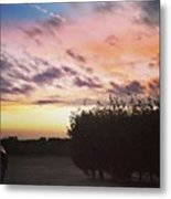 A Beautiful Morning Sky At 06:30 This Metal Print