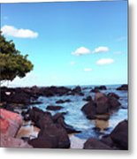 A Beautiful View Of The Sea From Mauritius Metal Print