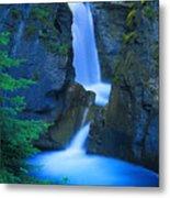 A Beautiful Waterfall, Johnston Canyon Metal Print