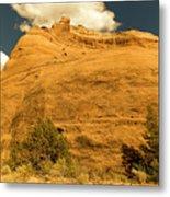 A Big Mountainous Rock On The Gemini Trail Moab Utah  Metal Print