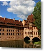 A Big Sky Over Old Architecture Metal Print