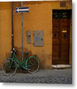 A Bike In Rome Metal Print