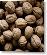 A Bin Of Walnuts At A Fruit Stand Metal Print