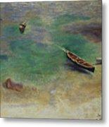 A Boat In The Waters Off Capri Metal Print