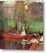 A Boating Party  Metal Print by John Singer Sargent