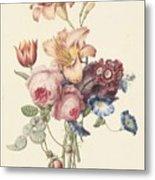 A Bouquet, Henriette Geertruida Knip, Ca. 1820 Metal Print