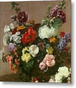 A Bouquet Of Mixed Flowers Metal Print