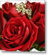A Bouquet Of Red Roses Metal Print