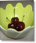 A Bowl Of Cherries Metal Print