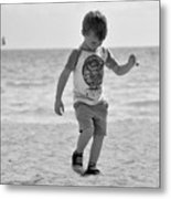 A Boy And His Beach Metal Print