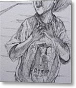 A Boy With A Hat Metal Print