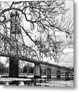 A Bridge In Winter Metal Print