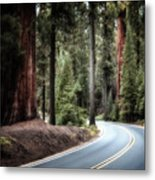 A Bright Future Around The Bend Metal Print