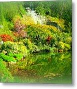 A Bright Garden Metal Print