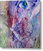 A Broken Eye Still Cries Metal Print