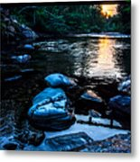 A Browns River Sunset Metal Print