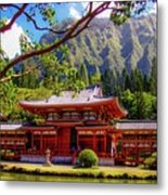 Buddhist Temple - Oahu, Hawaii - Metal Print