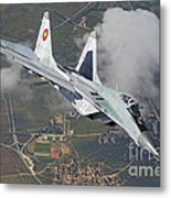 A Bulgarian Air Force Mig-29 In Flight Metal Print