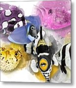A Bunch Of Colorful Fish No 01 Metal Print