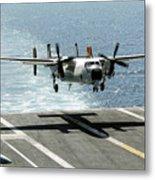 A C-2a Greyhound Prepares To Land Metal Print