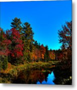 A Calm Fall Day On The Upper Moose Metal Print