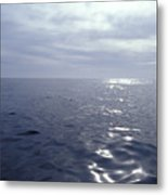 A Calm Ocean With Small Ripples Metal Print