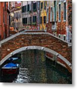 A Canal In Venice Metal Print